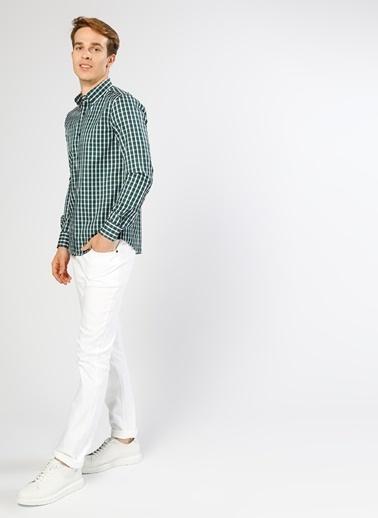 Limon Company Kareli Uzun Kollu Gömlek Yeşil